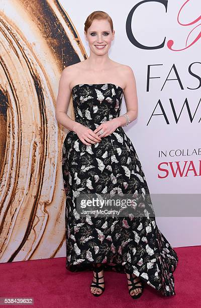 Jessica Chastain attends the 2016 CFDA Fashion Awards at the Hammerstein Ballroom on June 6 2016 in New York City