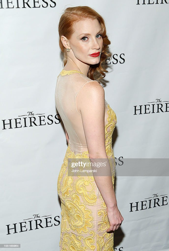 Jessica Chastain attends the after party following the Broadway revival opening night of 'The Heiress' at The Edison Ballroom on November 1, 2012 in New York City.