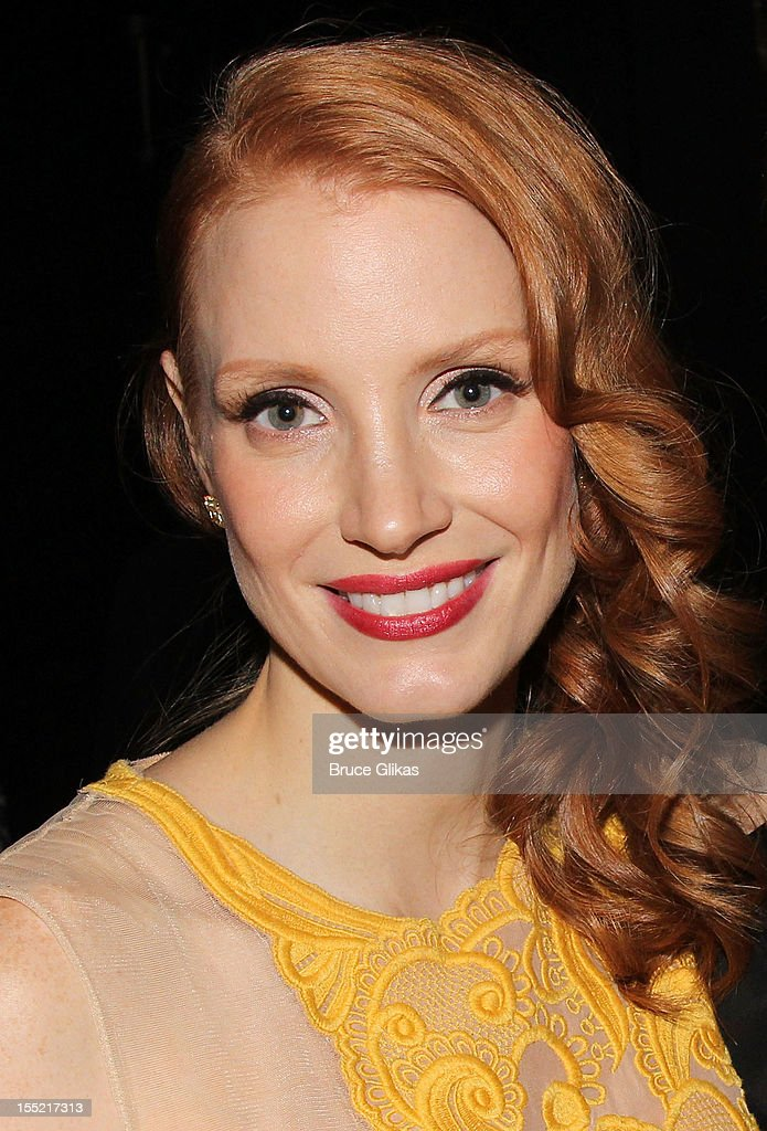 <a gi-track='captionPersonalityLinkClicked' href=/galleries/search?phrase=Jessica+Chastain&family=editorial&specificpeople=653192 ng-click='$event.stopPropagation()'>Jessica Chastain</a> attends the after party following the Broadway revival opening night of 'The Heiress' at The Edison Ballroom on November 1, 2012 in New York City.