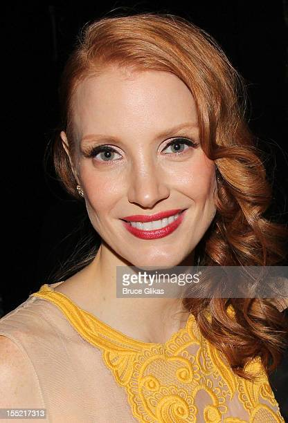Jessica Chastain attends the after party following the Broadway revival opening night of 'The Heiress' at The Edison Ballroom on November 1 2012 in...