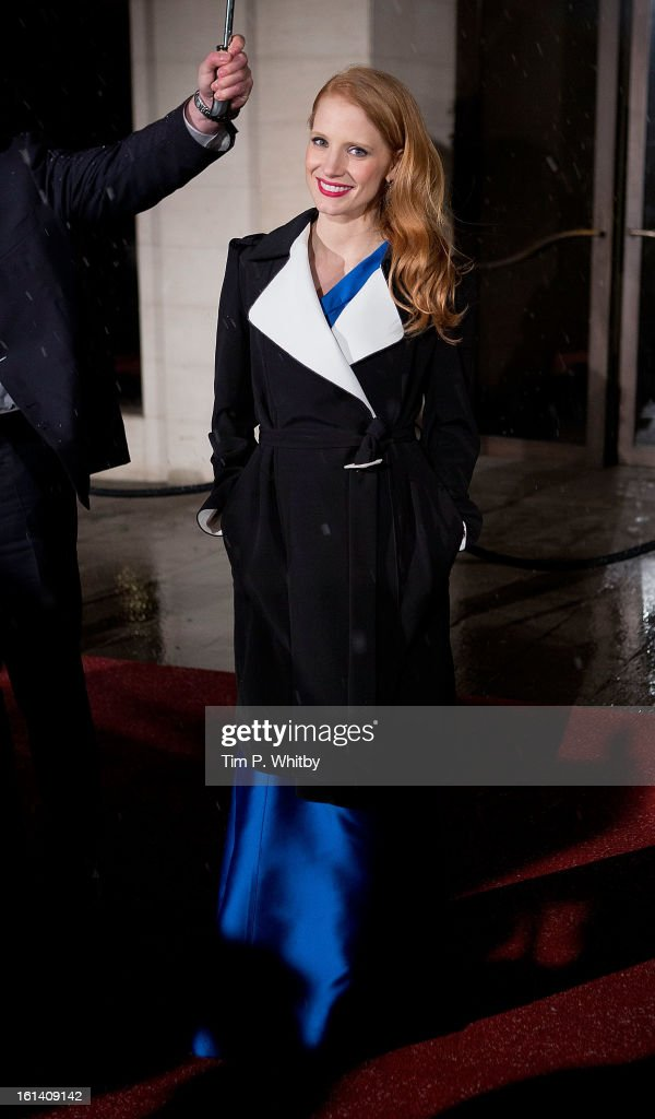 <a gi-track='captionPersonalityLinkClicked' href=/galleries/search?phrase=Jessica+Chastain&family=editorial&specificpeople=653192 ng-click='$event.stopPropagation()'>Jessica Chastain</a> attends the after party for the EE British Academy Film Awards at Grosvenor House, on February 10, 2013 in London, England.