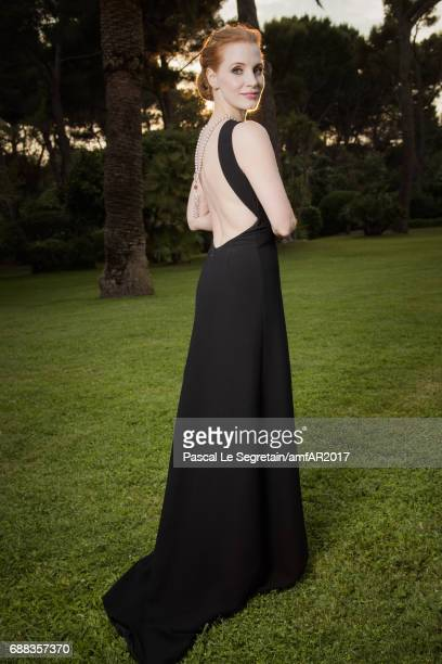 Jessica Chastain attends the amfAR Gala Cannes 2017 at Hotel du CapEdenRoc on May 25 2017 in Cap d'Antibes France
