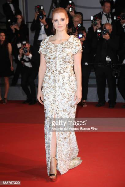 Jessica Chastain attends the 'Aus Dem Nichts ' screening during the 70th annual Cannes Film Festival at Palais des Festivals on May 26 2017 in Cannes...