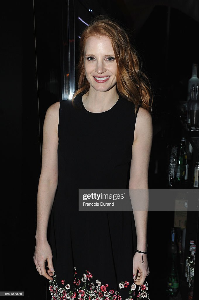 <a gi-track='captionPersonalityLinkClicked' href=/galleries/search?phrase=Jessica+Chastain&family=editorial&specificpeople=653192 ng-click='$event.stopPropagation()'>Jessica Chastain</a> attends the 'Blood Ties' cocktail and party hosted by Dior at Club by Albane in Bulgari Rooftop on May 20, 2013 in Cannes, France.