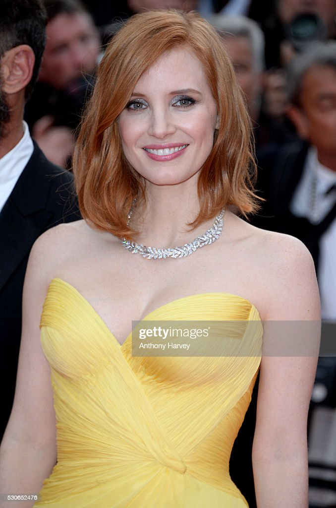 Jessica Chastain attends the 'Cafe Society' premiere and the Opening Night Gala during the 69th annual Cannes Film Festival at the Palais des Festivals on May 11, 2016 in Cannes, France.