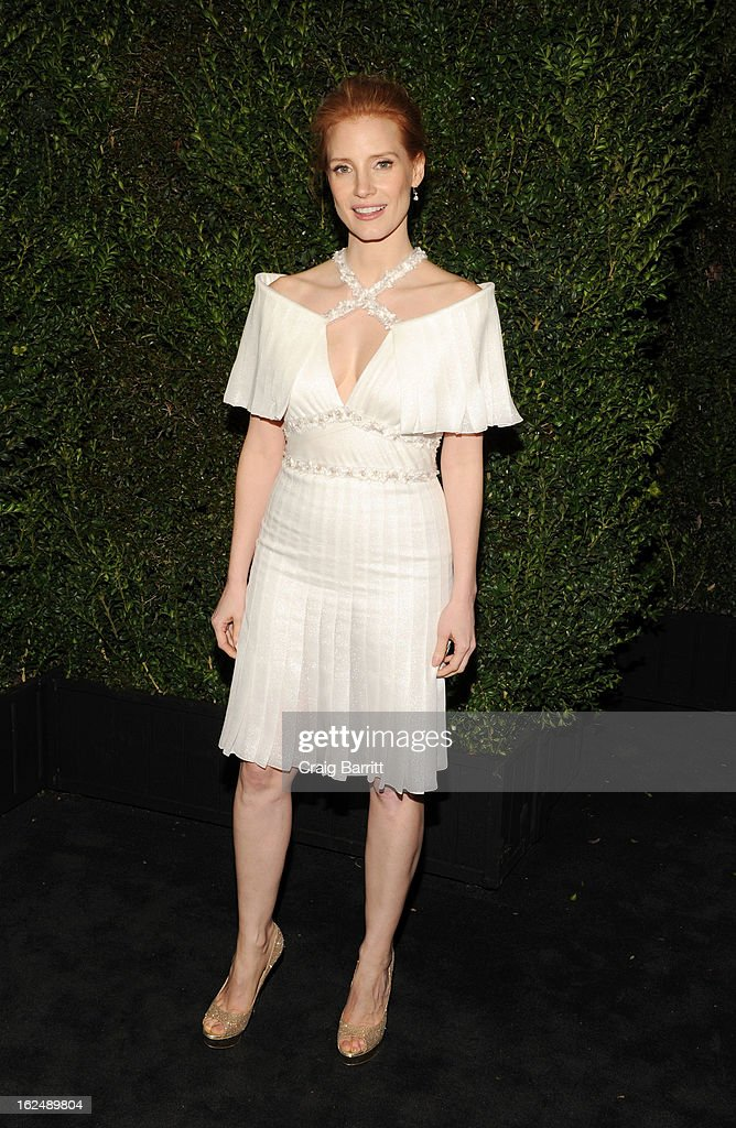 <a gi-track='captionPersonalityLinkClicked' href=/galleries/search?phrase=Jessica+Chastain&family=editorial&specificpeople=653192 ng-click='$event.stopPropagation()'>Jessica Chastain</a> attends the Chanel Pre-Oscar dinner at Madeo Restaurant on February 23, 2013 in Los Angeles, California.
