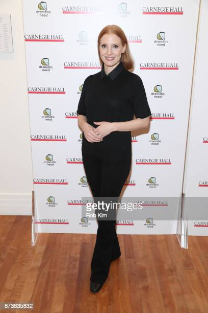 Jessica Chastain attends The Children's Monologues at Carnegie Hall on November 13 2017 in New York City
