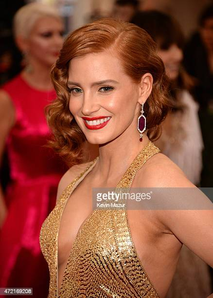 Jessica Chastain attends the 'China Through The Looking Glass' Costume Institute Benefit Gala at Metropolitan Museum of Art on May 4 2015 in New York...