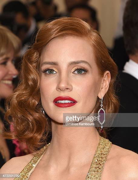 Jessica Chastain attends the 'China Through The Looking Glass' Costume Institute Benefit Gala at the Metropolitan Museum of Art on May 4 2015 in New...