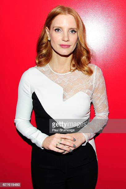 Jessica Chastain attends The Cinema Society with Piaget Host a Screening of EuropaCorp's 'Miss Sloane' at SAGAFTRA Foundation Robin Williams Center...