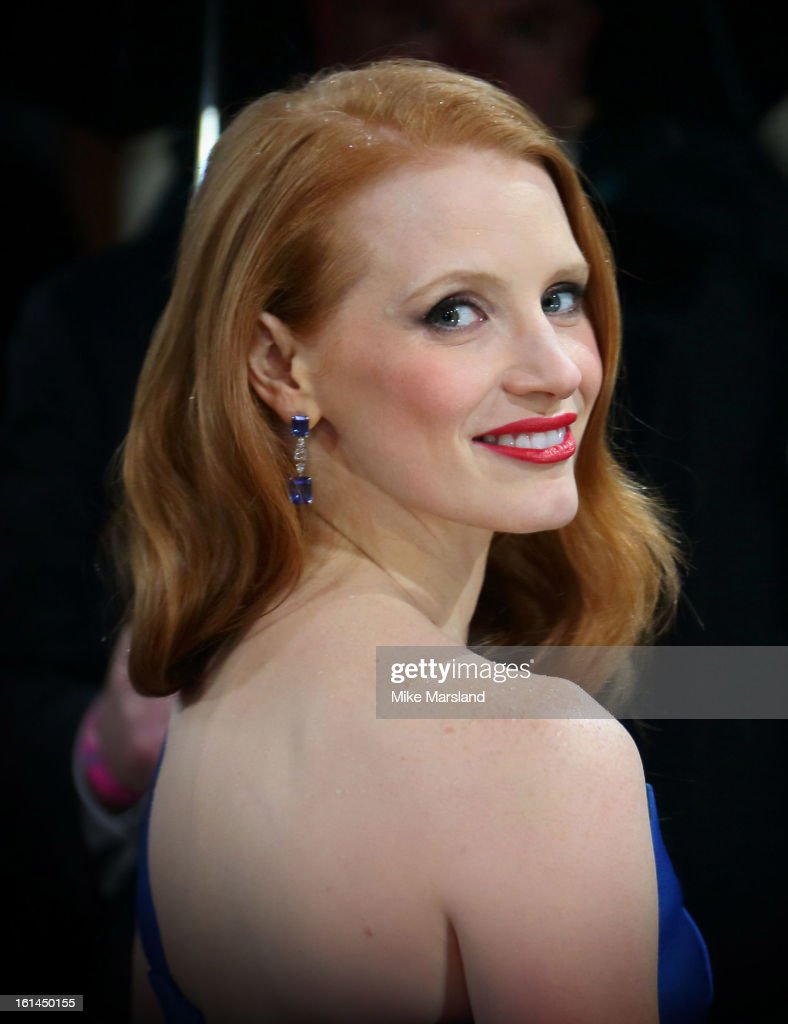 Jessica Chastain attends the EE British Academy Film Awards at The Royal Opera House on February 10, 2013 in London, England.