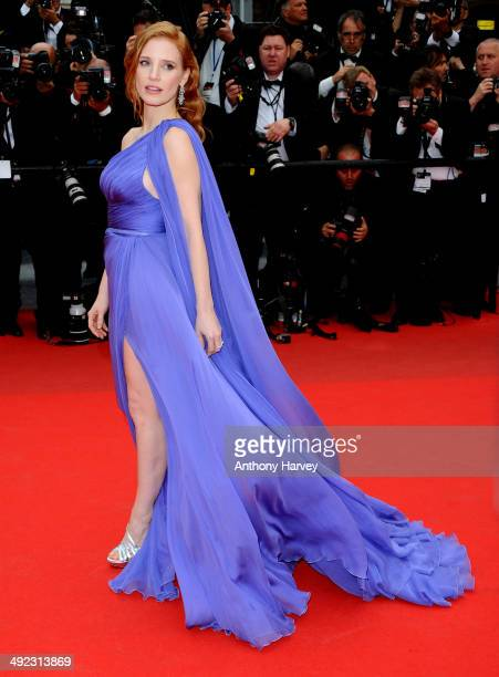 Jessica Chastain attends the 'Foxcatcher' premiere at the 67th Annual Cannes Film Festival on May 19 2014 in Cannes France