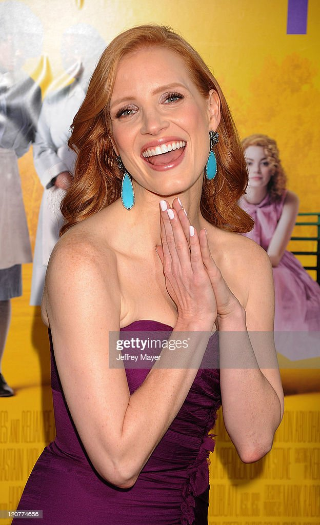 <a gi-track='captionPersonalityLinkClicked' href=/galleries/search?phrase=Jessica+Chastain&family=editorial&specificpeople=653192 ng-click='$event.stopPropagation()'>Jessica Chastain</a> attends 'The Help' Los Angeles Premiere at AMPAS Samuel Goldwyn Theater on August 9, 2011 in Beverly Hills, California.