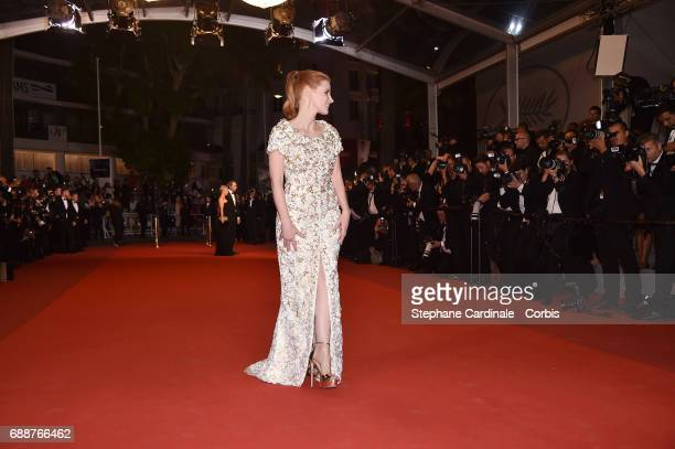 Jessica Chastain attends the 'In The Fade ' premiere during the 70th annual Cannes Film Festival at Palais des Festivals on May 26 2017 in Cannes...