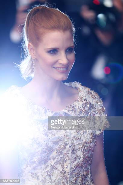 Jessica Chastain attends the 'In The Fade ' screening during the 70th annual Cannes Film Festival at Palais des Festivals on May 26 2017 in Cannes...