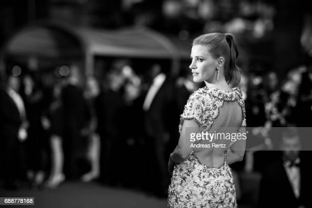 Jessica Chastain attends the 'In The Fade ' screening during the 70th annual Cannes Film Festival at on May 26 2017 in Cannes France