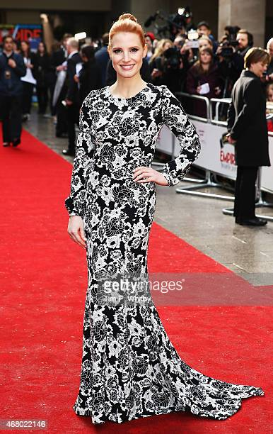 Jessica Chastain attends the Jameson Empire Awards 2015 at Grosvenor House Hotel on March 29 2015 in London England