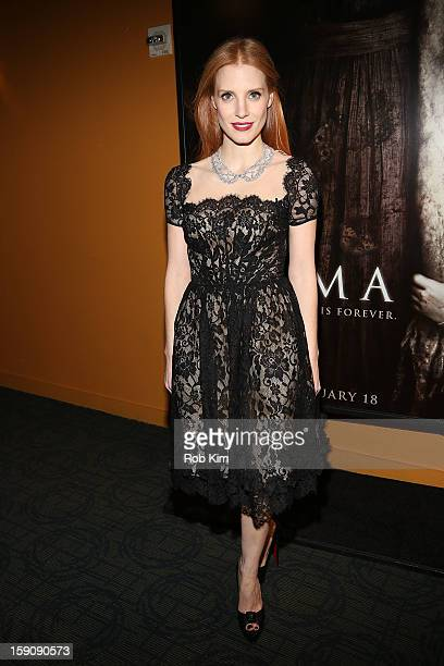 Jessica Chastain attends the 'Mama' screening at Landmark's Sunshine Cinema on January 7 2013 in New York City
