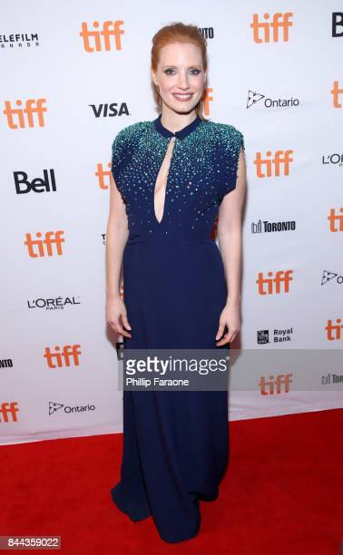 Jessica Chastain attends the 'Molly's Game' premiere during the 2017 Toronto International Film Festival at The Elgin on September 8 2017 in Toronto...