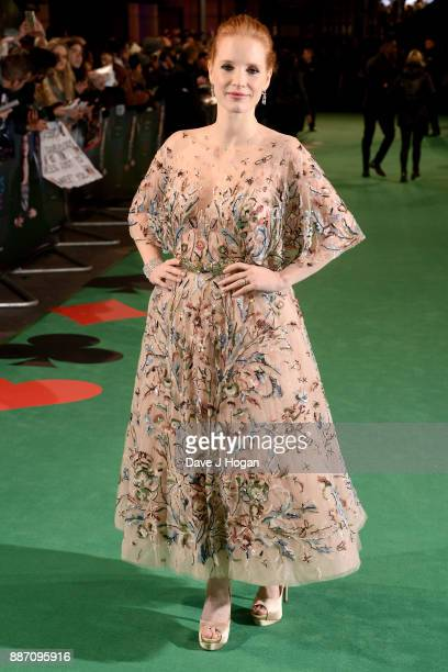 Jessica Chastain attends the 'Molly's Game' UK premiere held at Vue West End on December 6 2017 in London England