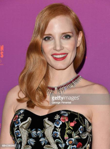 Jessica Chastain attends the Opening Gala dinner during the 70th annual Cannes Film Festival at Palais des Festivals on May 17 2017 in Cannes France