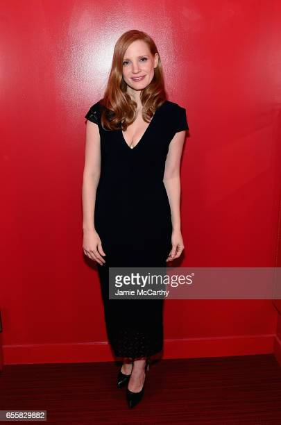 Jessica Chastain attends the SAGAFTRA Foundation Conversations 'The Zookeepers Wife' on March 20 2017 in New York City