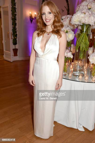 Jessica Chastain attends the Vanity Fair and HBO Dinner celebrating the Cannes Film Festival at Hotel du CapEdenRoc on May 20 2017 in Cap d'Antibes...