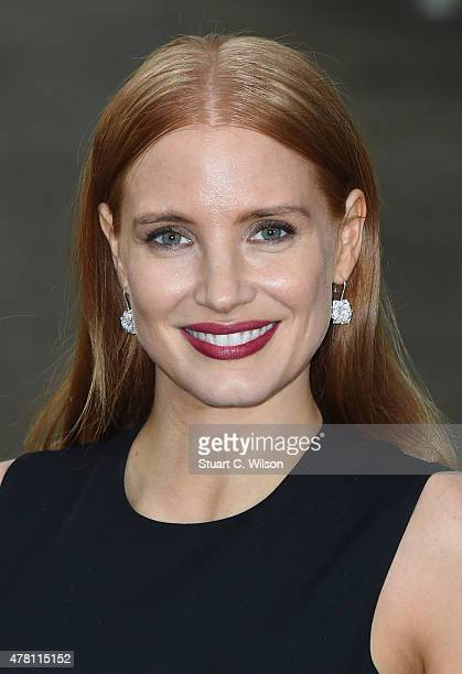 Jessica Chastain attends the Vogue and Ralph Lauren Wimbledon party at The Orangery on June 22 2015 in London England