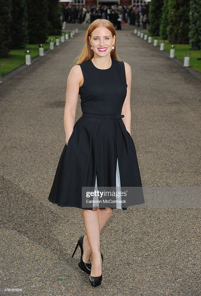 <a gi-track='captionPersonalityLinkClicked' href=/galleries/search?phrase=Jessica+Chastain&family=editorial&specificpeople=653192 ng-click='$event.stopPropagation()'>Jessica Chastain</a> attends the Vogue and Ralph Lauren Wimbledon party at The Orangery on June 22, 2015 in London, England.