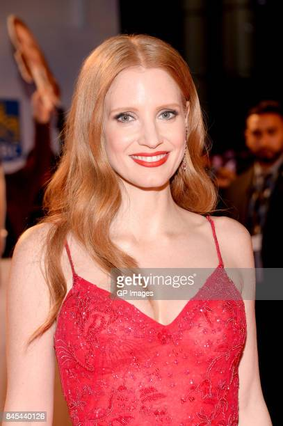 Jessica Chastain attends the 'Woman Walks Ahead' premiere during the 2017 Toronto International Film Festival at Roy Thomson Hall on September 10...