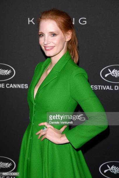 Jessica Chastain attends the Women in Motion Awards Dinner at the 70th Cannes Film Festival at Place de la Castre on May 21 2017 in Cannes France