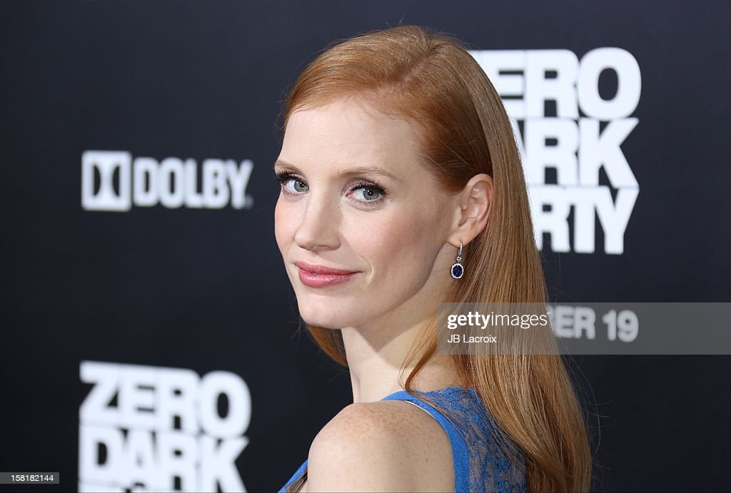 <a gi-track='captionPersonalityLinkClicked' href=/galleries/search?phrase=Jessica+Chastain&family=editorial&specificpeople=653192 ng-click='$event.stopPropagation()'>Jessica Chastain</a> attends the 'Zero Dark Thirty' Los Angeles premiere at Dolby Theatre on December 10, 2012 in Hollywood, California.