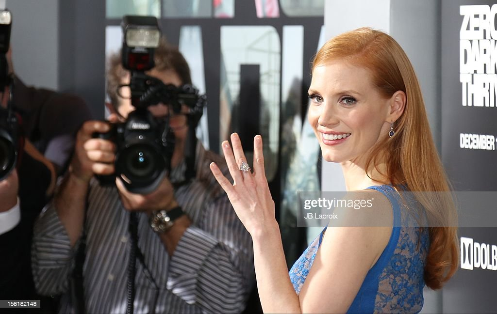Jessica Chastain attends the 'Zero Dark Thirty' Los Angeles premiere at Dolby Theatre on December 10, 2012 in Hollywood, California.