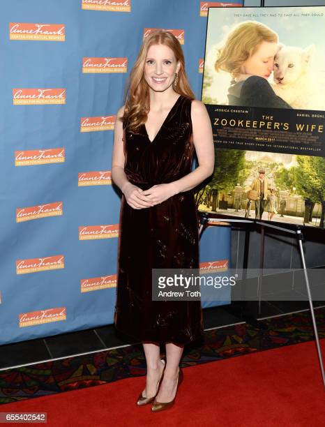 Jessica Chastain attends 'The Zookeeper's Wife' special screening at Regal Union Square on March 19 2017 in New York City