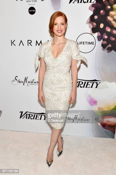 Jessica Chastain attends Variety's Power of Women New York at Cipriani Midtown on April 21 2017 in New York City