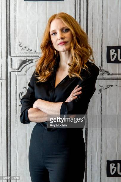 Jessica Chastain discuss 'The Zookeeper's Wife' with the build series at Build Studio on March 21 2017 in New York City