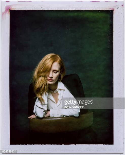 Jessica Chastain from the film 'Woman Walks Ahead' is photographed on polaroid film at the LA Times HQ at the 42nd Toronto International Film...