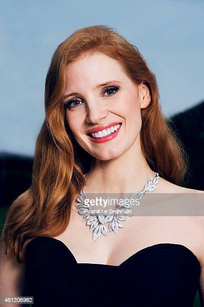 Jessica Chastain is photographed at AmfAR's 21st Cinema Against AIDS Gala on May 22 2014 in Cap d'Antibes France