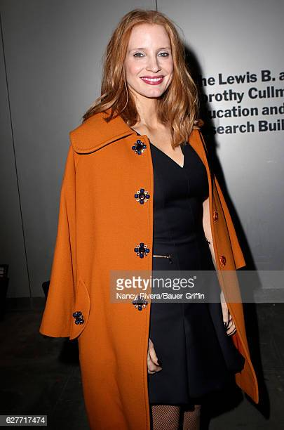 Jessica Chastain is seen on December 04 2016 in New York City