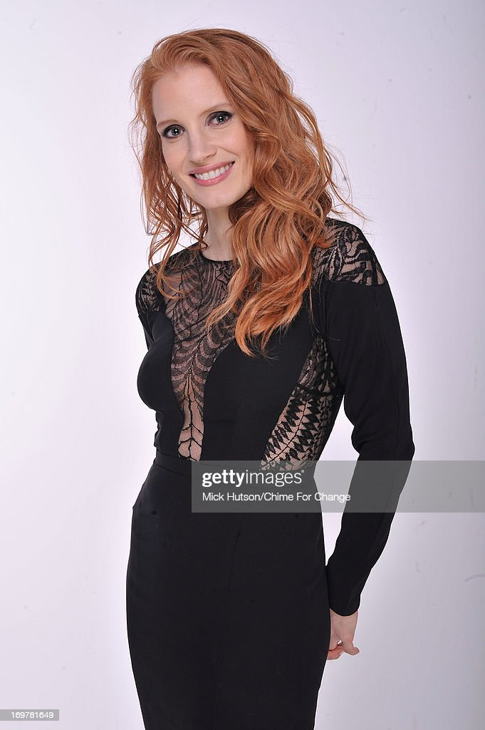 <a gi-track='captionPersonalityLinkClicked' href=/galleries/search?phrase=Jessica+Chastain&family=editorial&specificpeople=653192 ng-click='$event.stopPropagation()'>Jessica Chastain</a> poses for a portrait backstage at the 'Chime For Change: The Sound Of Change Live' Concert at Twickenham Stadium on June 1, 2013 in London, England. Chime For Change is a global campaign for girls' and women's empowerment founded by Gucci with a founding committee comprised of Gucci Creative Director Frida Giannini, Salma Hayek Pinault and Beyonce Knowles-Carter.