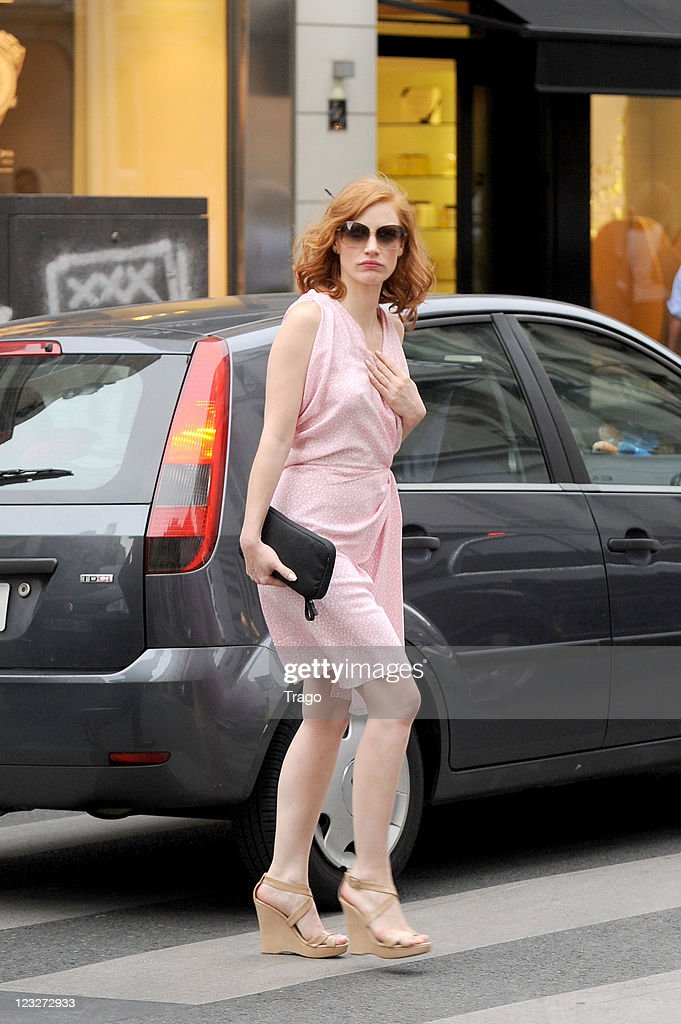 Jessica Chastain sighted on September 1, 2011 in Paris, France.