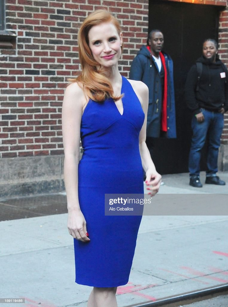 <a gi-track='captionPersonalityLinkClicked' href=/galleries/search?phrase=Jessica+Chastain&family=editorial&specificpeople=653192 ng-click='$event.stopPropagation()'>Jessica Chastain</a> Sighting on January 7, 2013 in New York City.