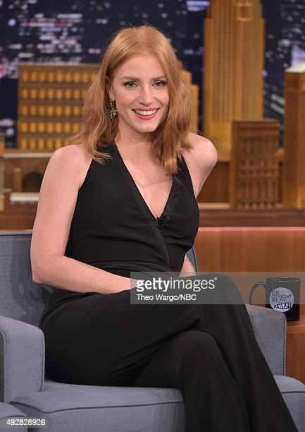 Jessica Chastain Visits 'The Tonight Show Starring Jimmy Fallon' at Rockefeller Center on October 15 2015 in New York City