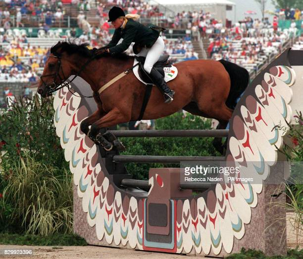Jessica Chesney riding DIamond Exchange during Round A of th individaual showjumping event at the Georgia International Horse Park today Photo By...