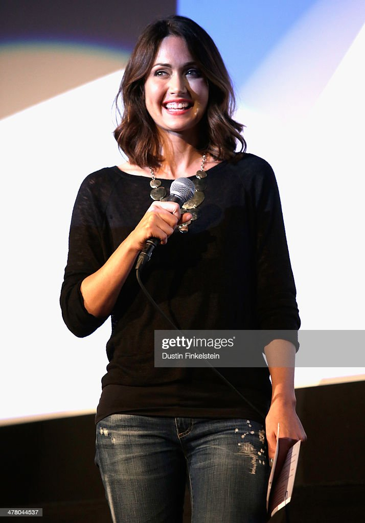 Jessica Chobot speaks onstage at 'GODZILLA: THE JAPANESE ORIGINAL' during the 2014 SXSW Music, Film + Interactive Festival at Alamo Ritz on March 11, 2014 in Austin, Texas.