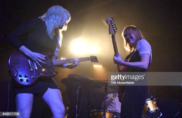 Jessica Clavin and Jennifer Clavin of Bleached perform at Ace of Spades on September 12 2017 in Sacramento California