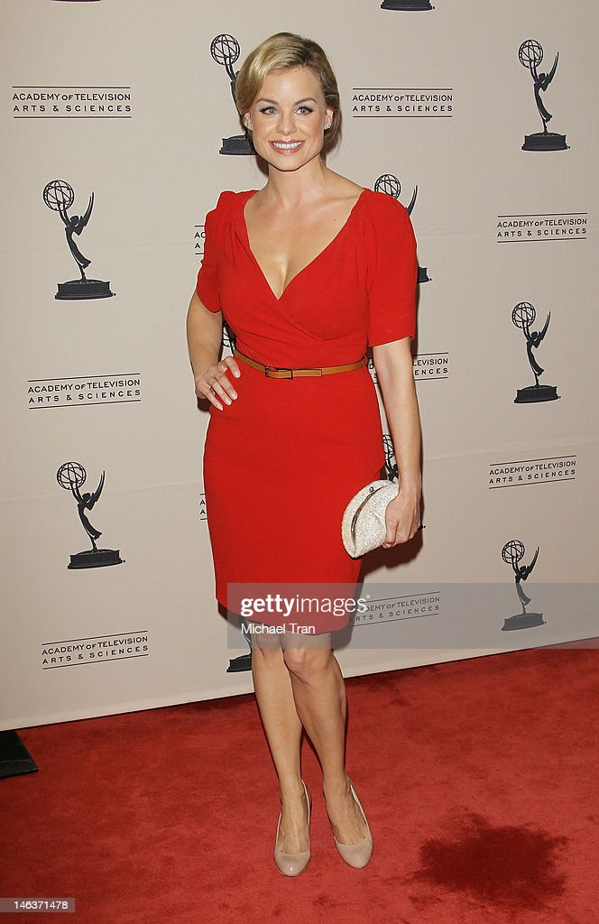 Jessica Collins arrives at 39th Daytime Entertainment Emmy Awards - nominees reception held at SLS Hotel on June 14, 2012 in Beverly Hills, California.