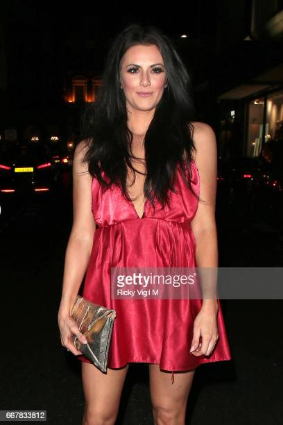 Jessica Cunningham attends James Ingham's JogOn to Cancer part 5 at Kensington Roof Gardens on April 12 2017 in London England