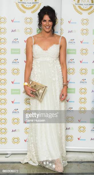 Jessica Cunningham attends the National Film Awards on March 29 2017 in London United Kingdom