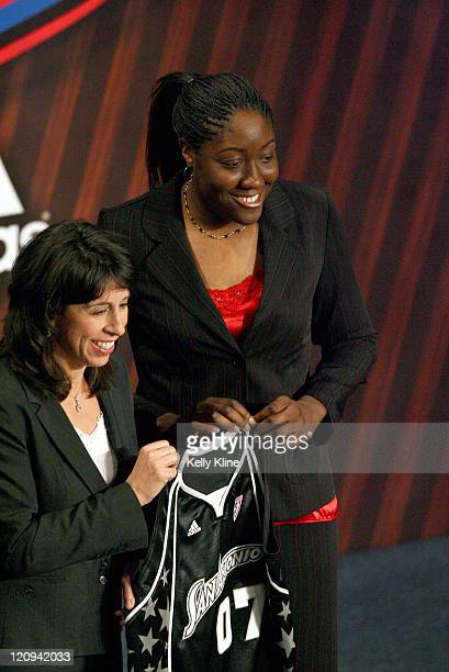 Jessica Davenport of Ohio State is the second over all pick in the WNBA Draft by the San Antonio Silver Stars but then Traded to New York for Becky...